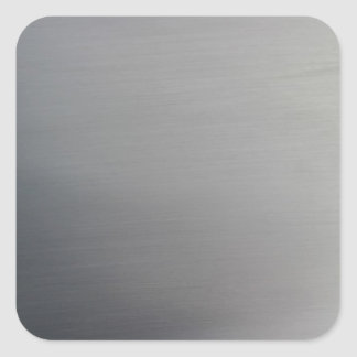 Brushed Metal Square Stickers