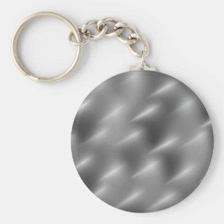 brushed metal swirls keychain