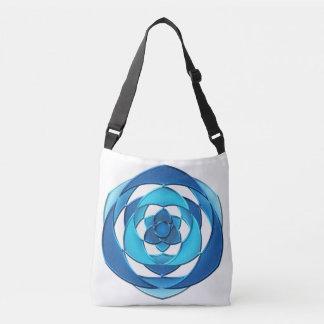 brushed metallic shape. crossbody bag