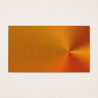 Brushed Orange Metal Business Cards