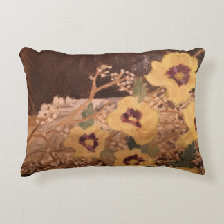 Brushed Polyester Pillow/ Flowers Decorative Cushion