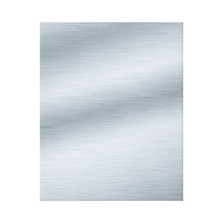 Brushed Silver Look Background Art Stretched Canvas Print