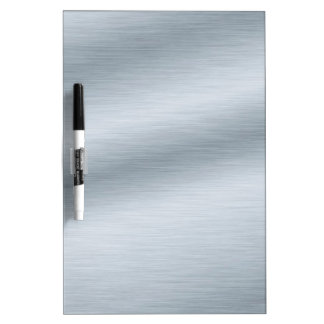 Brushed Silver Look Background Dry Erase Board