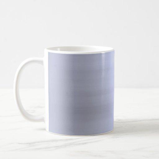 Brushed Silver Metal Textured Basic White Mug