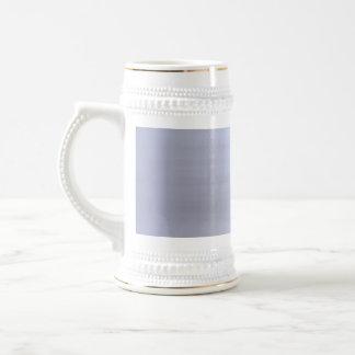 Brushed Silver Metal Textured Coffee Mug