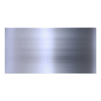 Brushed Silver Metal Textured Picture Card