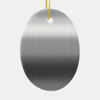 Brushed Stainless Christmas Ornament