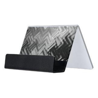 Brushed Steel Desk Business Card Holder
