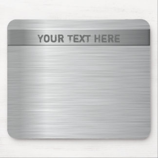 Brushed Steel Effect Mouse Mat