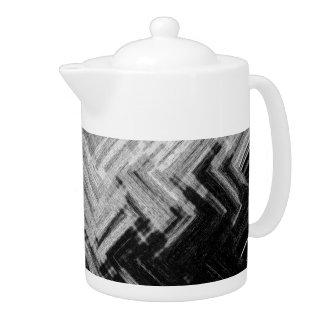 Brushed Steel Porcelain Tea Pot by C.L. Brown