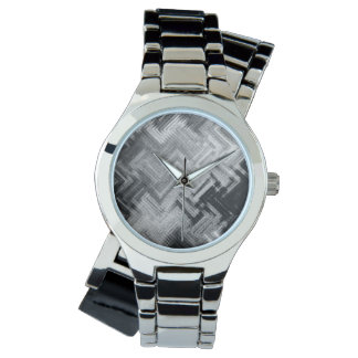 Brushed Steel Women's Wraparound Silver Watch