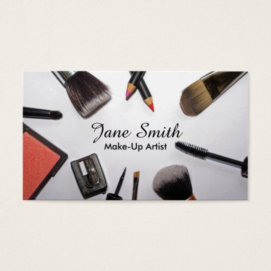 Brushes and Products Make-up Artist Business Cards