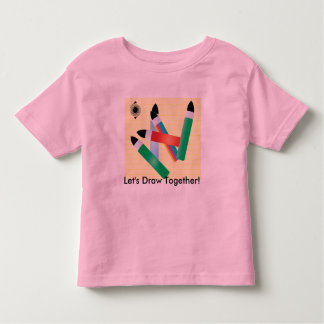 Brushes, Let's Draw Together! Tee Shirt
