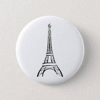 Brushstroke Eiffel Tower 6 Cm Round Badge