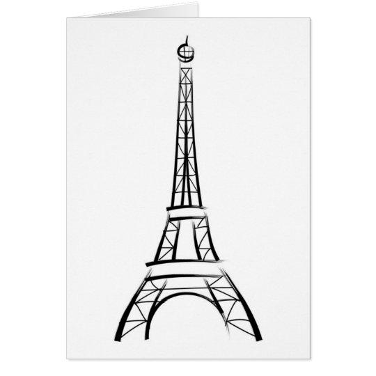 Brushstroke Eiffel Tower Card