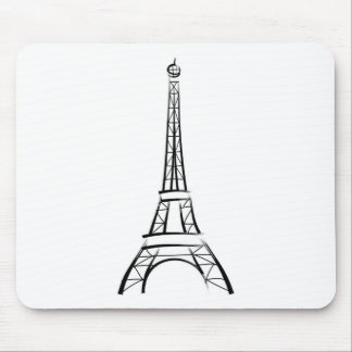 Brushstroke Eiffel Tower Mouse Mat