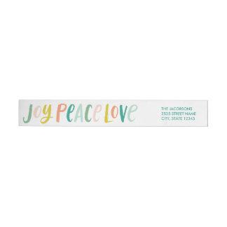 Brushstroke Joy Peace Love Wraparound Labels