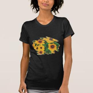 Brushstroke Painting of Yellow Sunflowers Tshirts