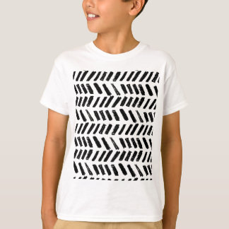 Brushstroke Slash Pattern T-Shirt