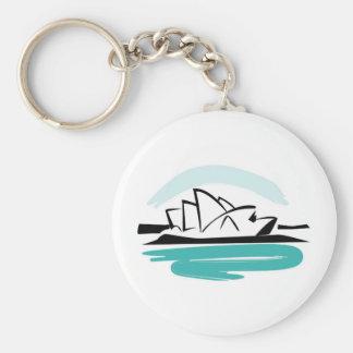Brushstroke Sydney Destination Key Ring