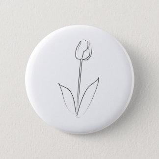 Brushstroke Tulip 6 Cm Round Badge