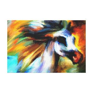 Brushstrokes Abstract Grey Horse Canvas Print