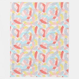Brushstrokes Colourful Pattern Fleece Blanket