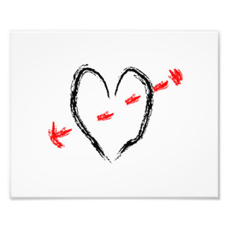 Brushy heart black with arrow outline copy.png photo print