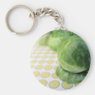 Brussel Sprouts Basic Round Button Key Ring