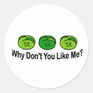 Brussel Sprouts Round Sticker