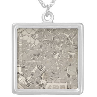 Brussels and Belgium Silver Plated Necklace