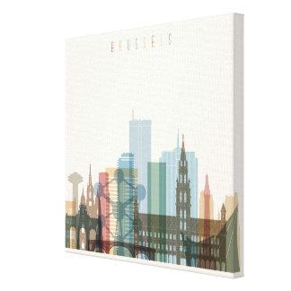 Brussels, Belgium | City Skyline Canvas Print