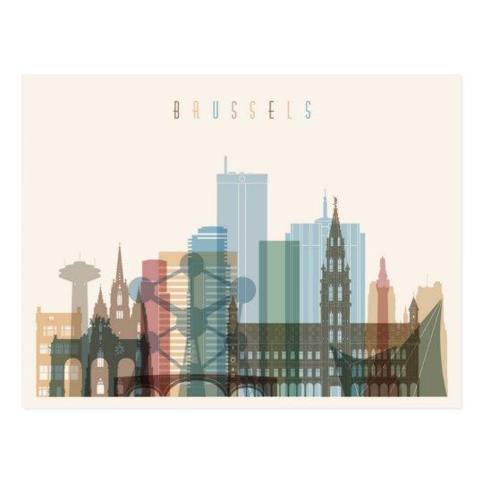 Brussels, Belgium | City Skyline Postcard
