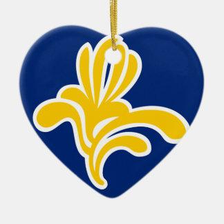 Brussels (Belgium) Flag Ceramic Heart Decoration
