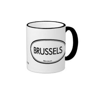 Brussels, Belgium Ringer Mug