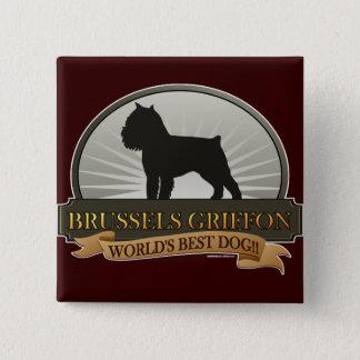 Brussels Griffon 15 Cm Square Badge