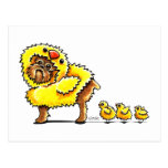 Brussels Griffon Chick Easter Postcard