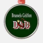 Brussels Griffon Dad Christmas Tree Ornaments