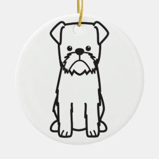 Brussels Griffon Dog Cartoon Christmas Ornament