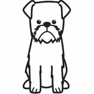 Brussels Griffon Dog Cartoon Standing Photo Sculpture