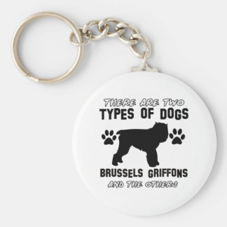 BRUSSELS GRIFFON gift items Basic Round Button Key Ring