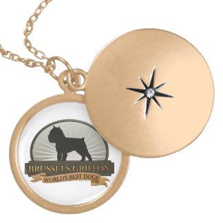 Brussels Griffon Locket Necklace