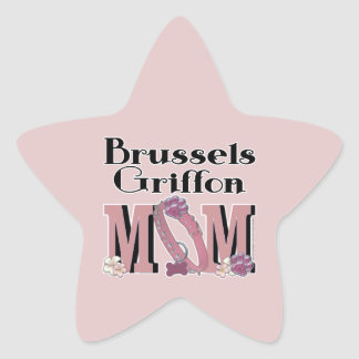 Brussels Griffon MOM Star Sticker