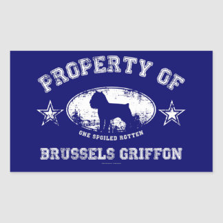 Brussels Griffon Rectangular Sticker