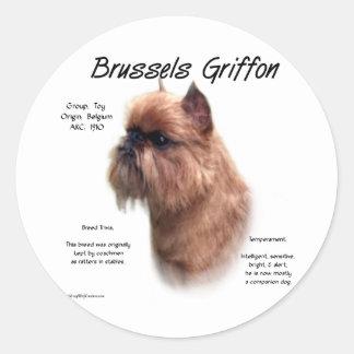 Brussels Griffon (rough) History Design Classic Round Sticker