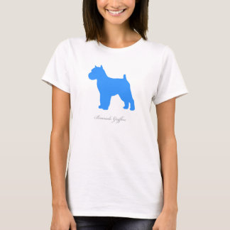 Brussels Griffon T-shirt (blue docked version)