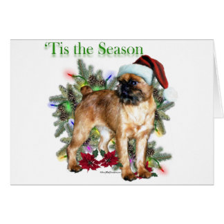 Brussels Griffon 'Tis Greeting Card