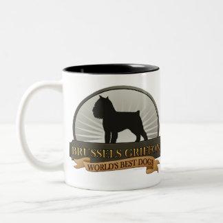 Brussels Griffon Two-Tone Coffee Mug