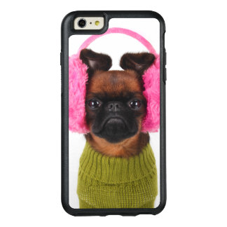 Brussels Griffon With Pink Earmuffs OtterBox iPhone 6/6s Plus Case