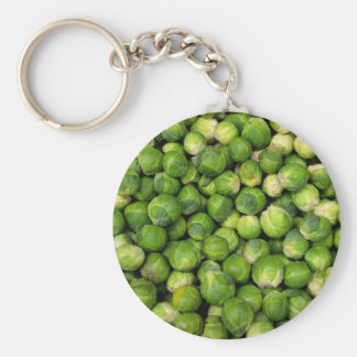 Brussels sprouts basic round button key ring